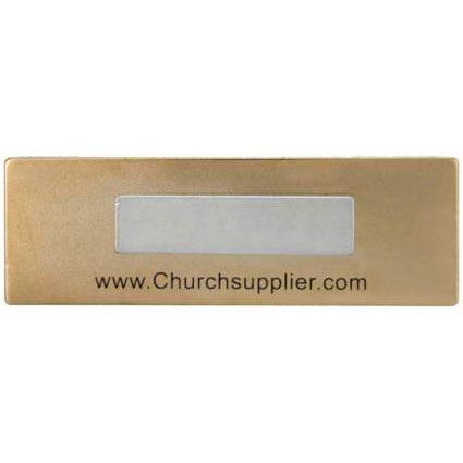 Blue Usher Magnetic Badge-Back