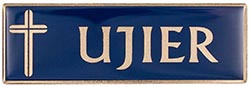 Blue Ujer Magnetic Badge