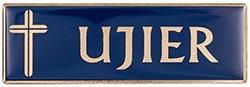 Blue Gold Ujier Magnetic Badge
