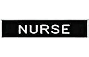 Nurse Pin Badge Black