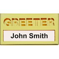 Brass Greeter Name Badge for Name