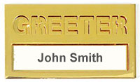 Brass Greeter Badge