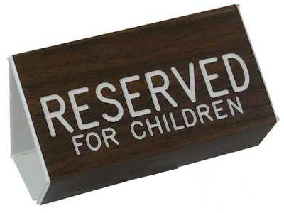 Reserved for Children Pew Sign
