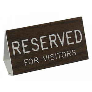 Reserved for Visitors Pew Sign
