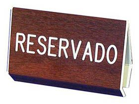 Spanish Reserved Pew Walnut Grained Sign
