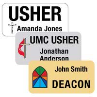 Custom Printed Name Tags and Badges - 1.5 x 3 Inch