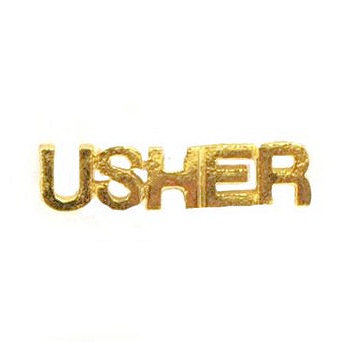 Gold Usher Pin Cut-Out Letters