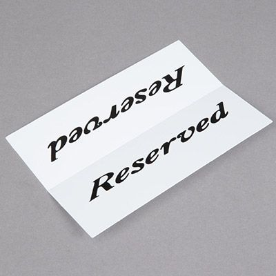 Reusable Plastic Reserved Table Signs