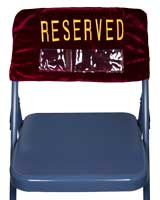 Velvet Folding Chair Reserved Cover Embroidered 2 Sides