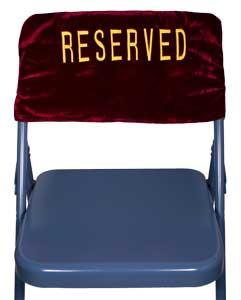 Velvet Folding Chair Reserved Cover Embroidered 2 Sides