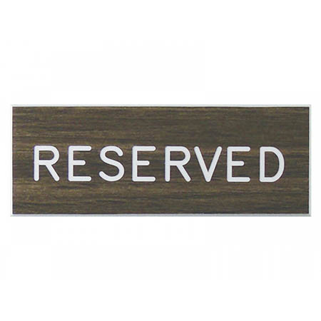 Mini Reserved Seat Plaque Sign