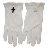 Black Cross White Gloves