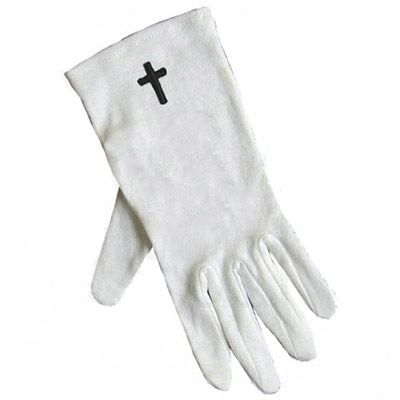 Black Cross White Gloves Sm-XL