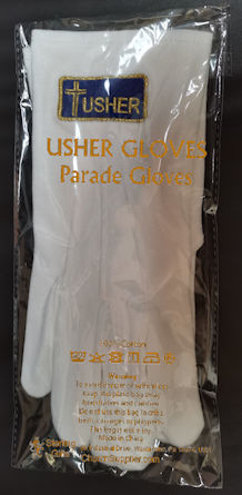 Usher, Junior Usher & Ujier Santuary Gloves White