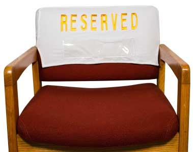 Embroidered Velvet Padded Chair Reserved Cover