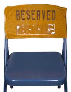 Reserved Embroidered Velvet Folding Chair  Cover