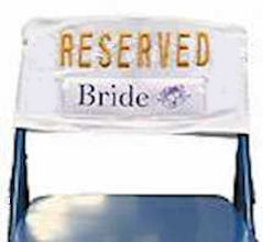 Wedding Bride and Groom Chair Reserved Signs