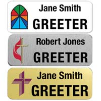 Custom 1 x 3 inch Name Badge