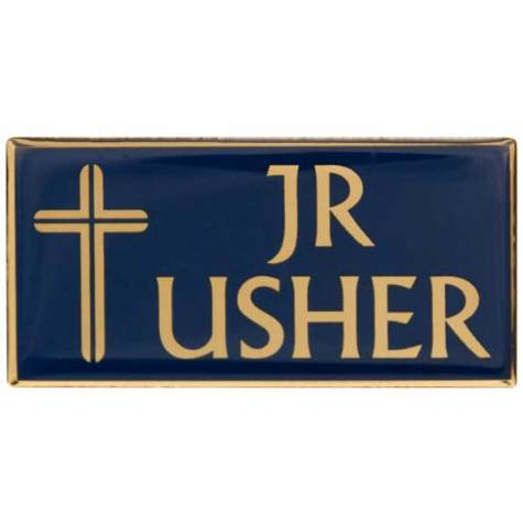 Jr. Usher Badge Gold Magnetic