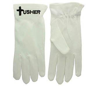 Usher and Black Cross White Gloves