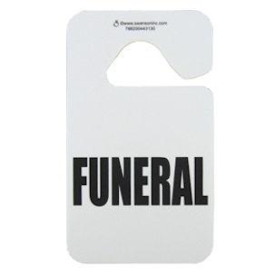 Funeral Automobile Procession Mirror Hanger Plastic