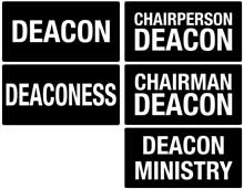 Black Deacon Deaconess Magnetic Pins