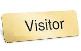 Gold Visitor Badges Magnetic (Set of 4)