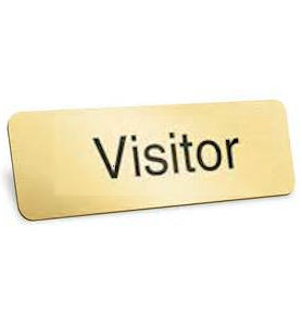 Gold Visitor Badges Magnetic (Set of 4)