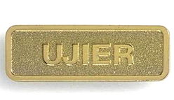 Gold Brass Ujier Magnetic Pin -Usher