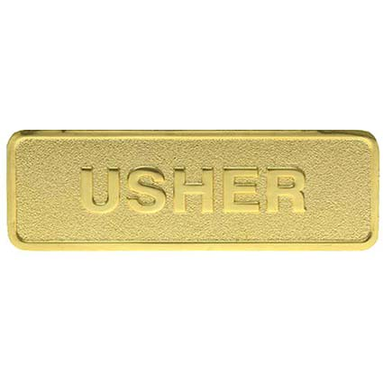 Gold Brass Usher Magnetic Pin