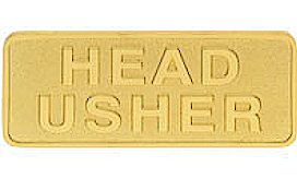 Gold Brass Head Usher Magnetic Pin