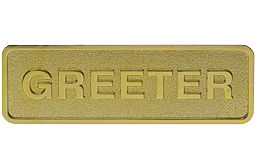 Greeter Badge, Greeter Name Tag with Magnetic Back