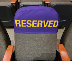 Reserved Chair and Seat Covers, Set of 2