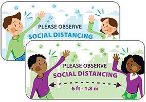 Social Distancing Lapel Pin