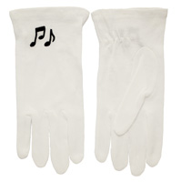 Music Note White Gloves