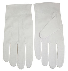 Formal Cotton White Usher Gloves in SM-3X
