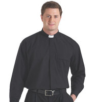 Men's Long Sleeve Clergy Tab Shirt