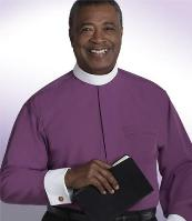 bishops purple long sleeve clergy shirt