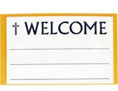 Changeable Welcome Name Badge Magnetic Gold