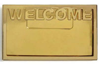 Welcome Name Badge Gold Magnetic