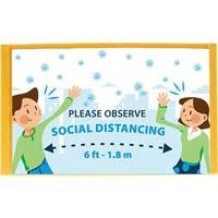 Social Distance Usher / Salesperson Warning Sign