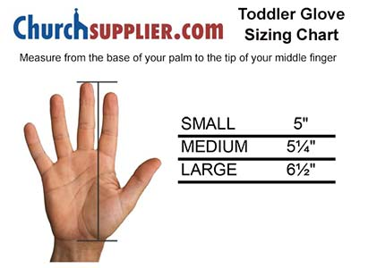 Toddler Size Formal White Gloves