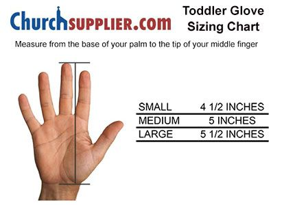 Toddler Glove Sizing chart