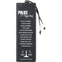 Police a Caring Heart Leather Bookmark