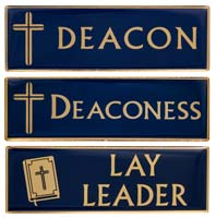 Deacon, Deaconess or Lay Leader Magnetic Gold Pin