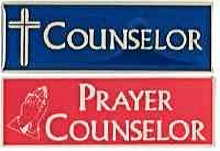 Magnetic Prayer Counselor Badge