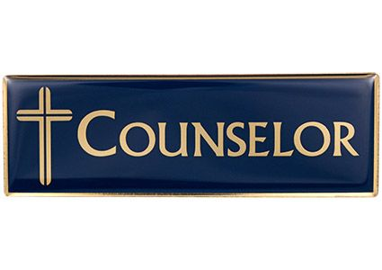 Magnetic Counselor, Prayer Counselor Badge Pin