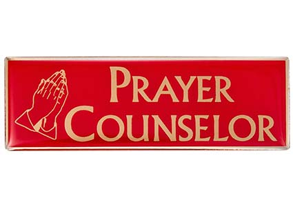 Prayer Counceleor magnetic badge