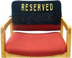 Enbroidered Reserved Chair Velvet Cover No Pocket