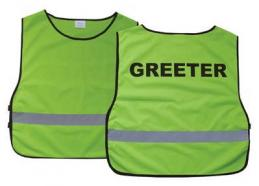 Greeter Safety Vest XL For Church or Concert